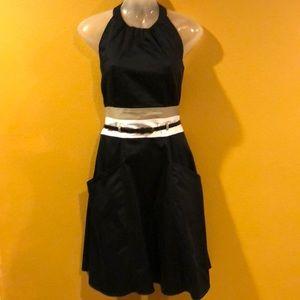Calvin Klein Halter dress backless with pockets
